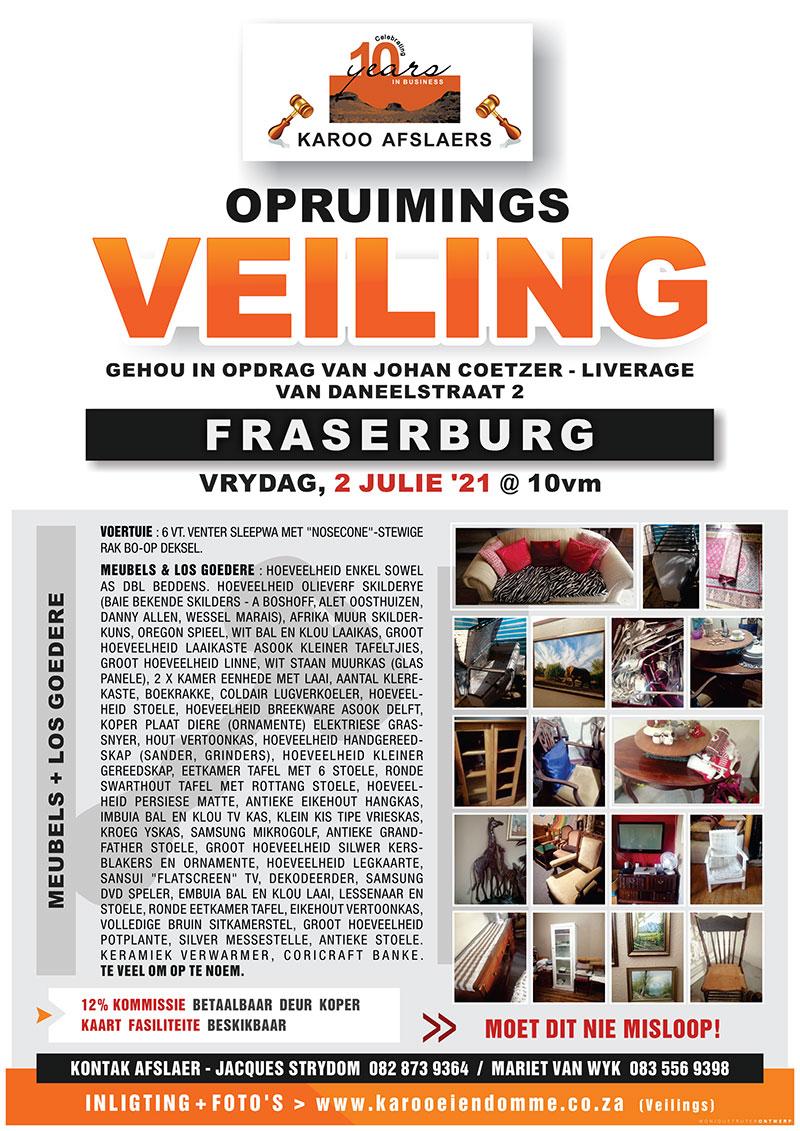 Fraserburg Veiling - Sleepwa, meubels en los goedere